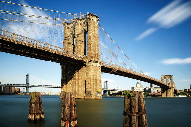Midday Long Exposure, Brooklyn Bridge, New York City