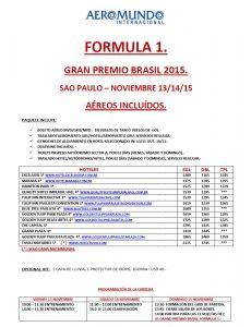 Formula 1 – Gran premio brasil 2015 SAO PAULO