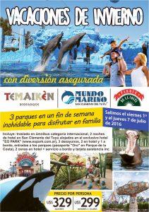 Temaikén, Mundo Marino, P de la Costa – Vacaciones de Invierno